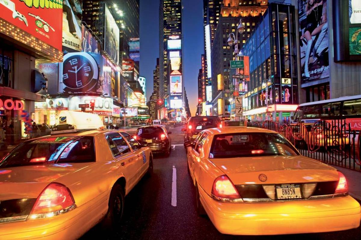 New York Taxi Fotobehang (Wallpaper)