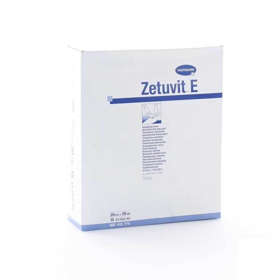 Zetuvit E steriele absorberende kompressen 20cmx20cm