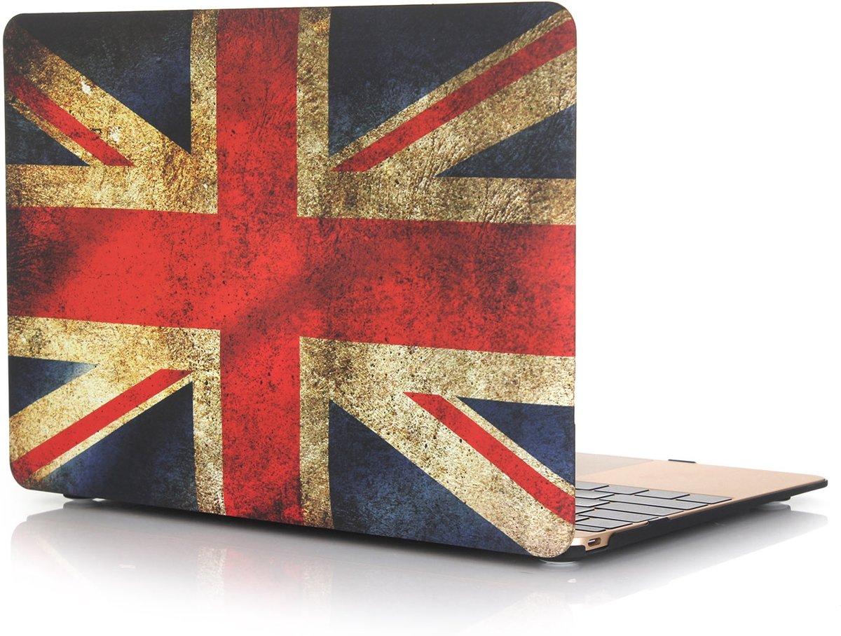 Xssive Macbook Case voor Macbook Air 11 inch - Laptoptas - Hard Case - Retro Union Jack Engelse Vlag