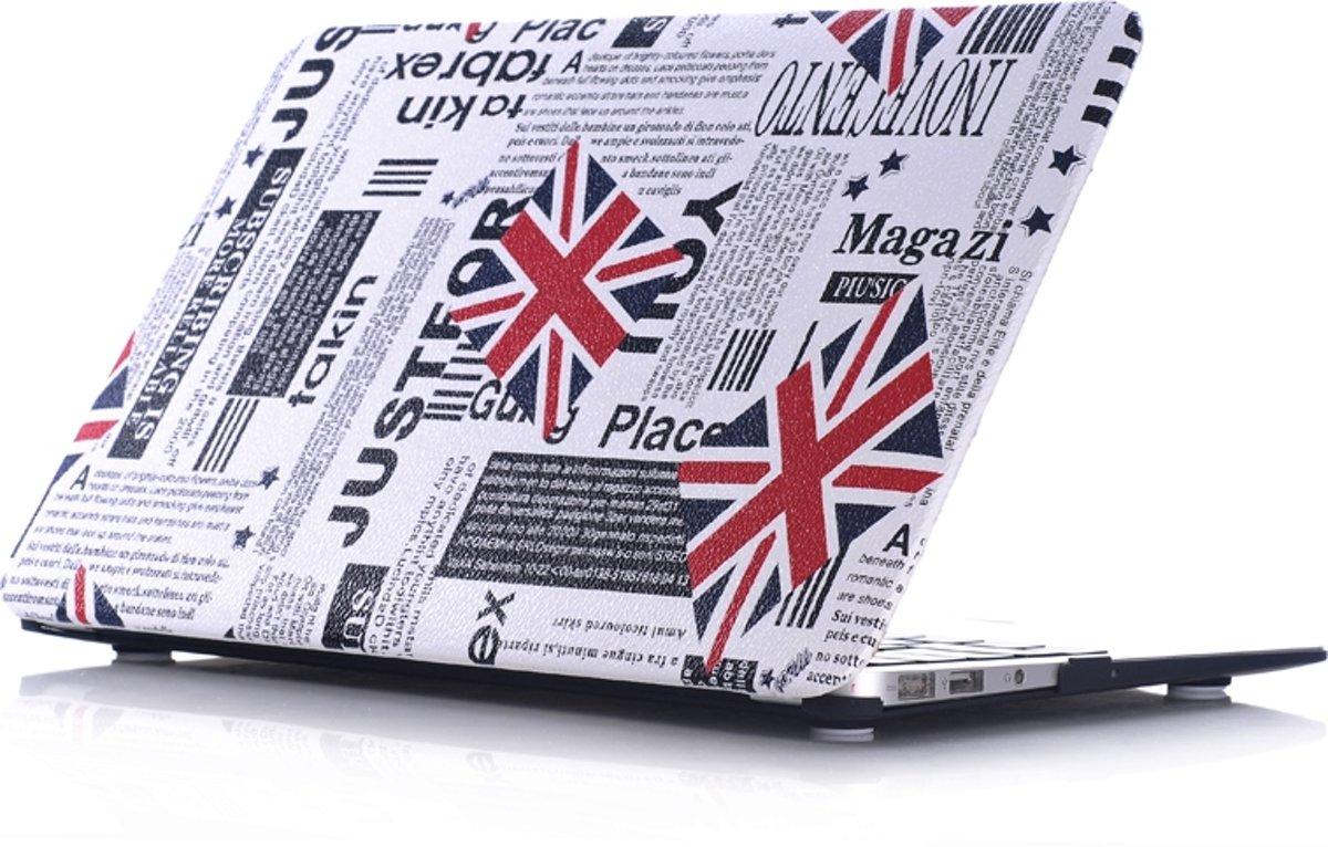 Macbook Case voor Macbook Pro 15 inch (zonder retina) - Laptoptas - Hard Case -  Krant met Union Jack Engelse Vlag
