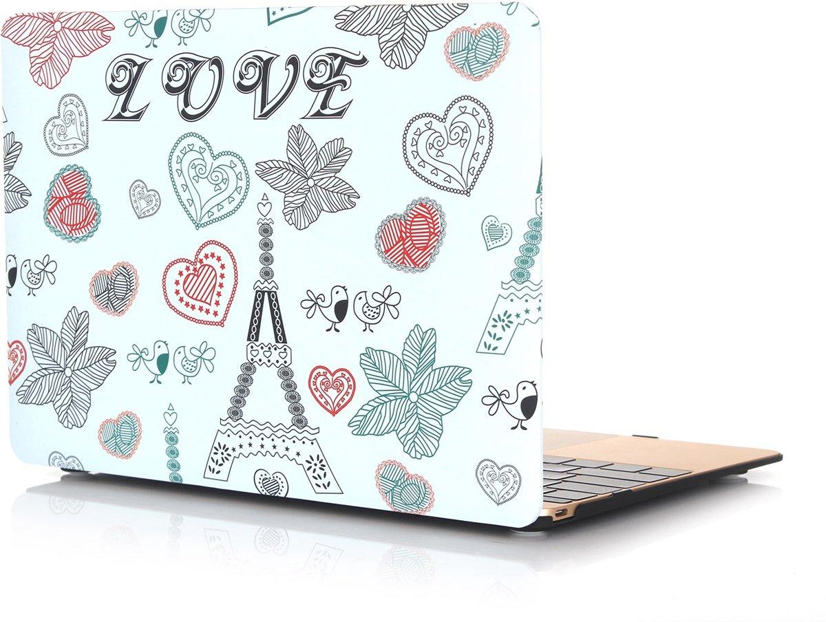 Xssive Macbook Case voor Macbook Retina 12 inch - Laptoptas - Hard Case - Love Eiffeltoren