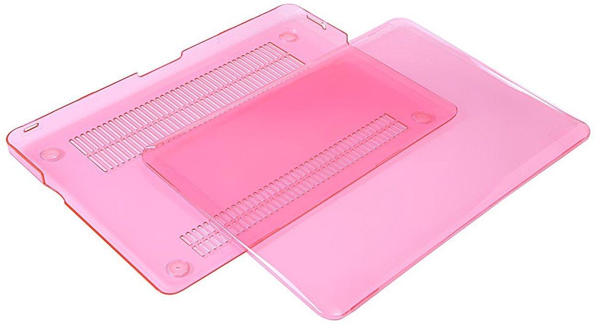 Xssive Macbook Case voor MacBook Air 11 inch - Laptoptas - Clear Hard Case - Pink - Roze