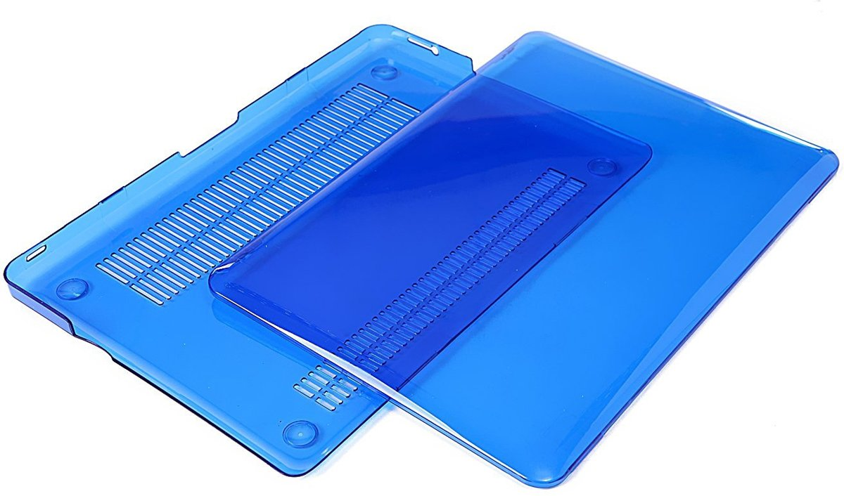 Macbook Case voor MacBook Pro 15 inch (zonder retina) - Laptoptas - Clear Hardcover - Blauw