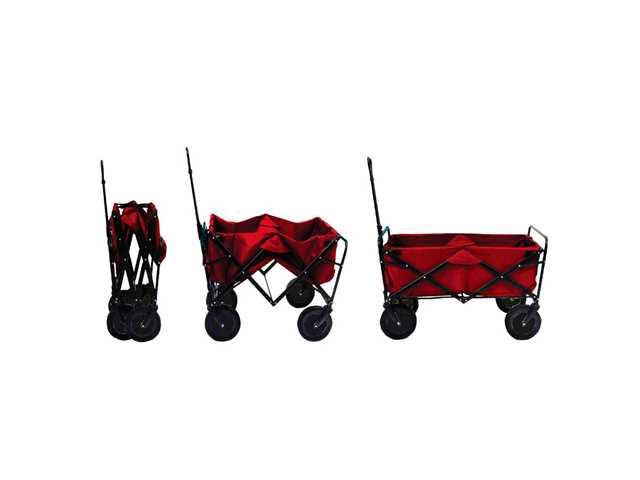 Basic Bolderwagen opvouwbaar rood