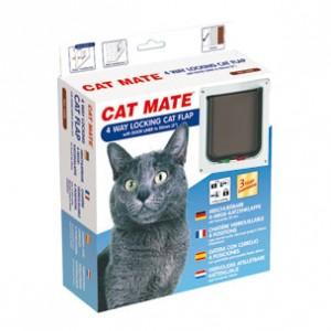 Cat Mate 4 way locking cat flap 235W Wit