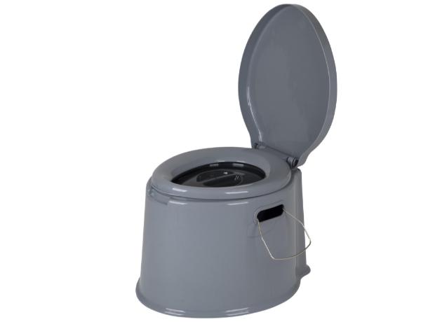 Bo-Camp Draagbaar Camping Toilet - 7 Liter - Grijs 33CM