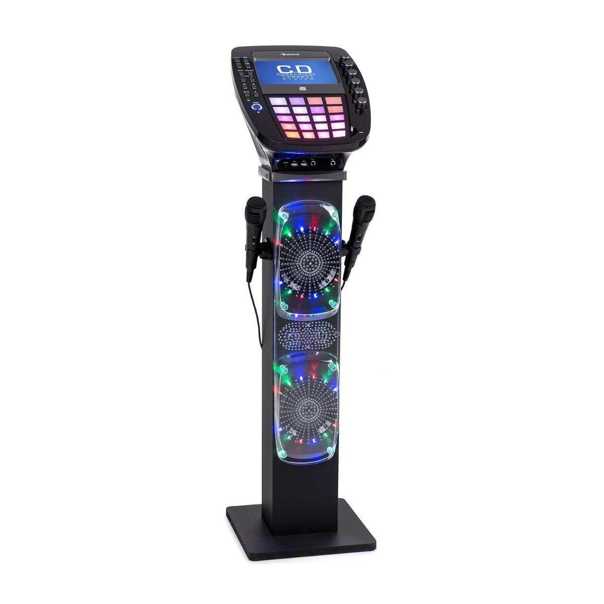 Auna KaraBig karaoke set met display, Bluetooth, CD, 2 microfoons en