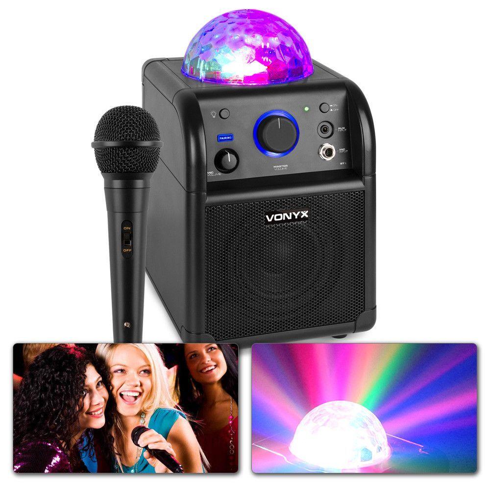Vonyx SBS50B Karaokeset met microfoon, Bluetooth en lichteffect
