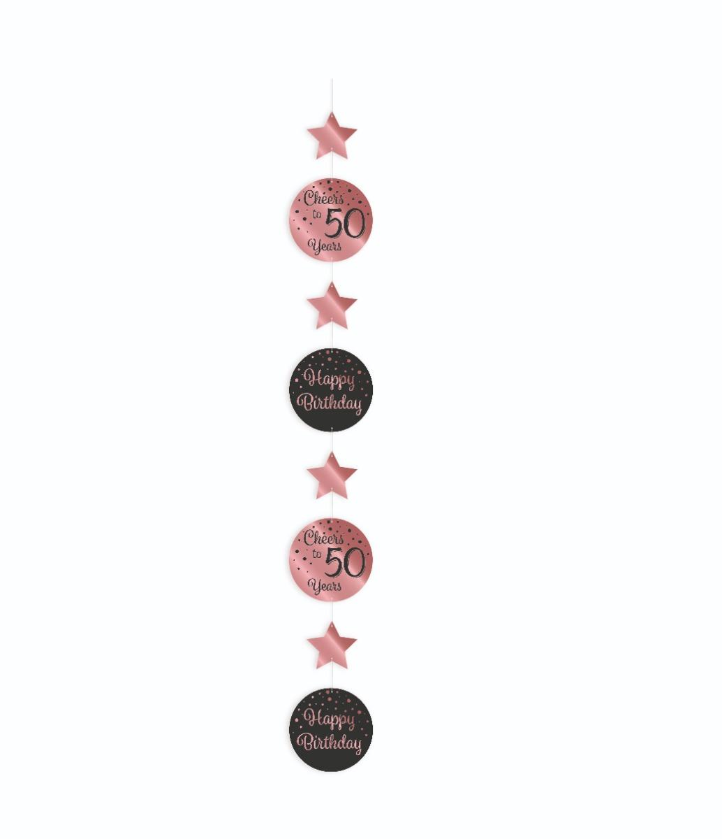 Paperdreams Hangslinger roze/zwart - 50